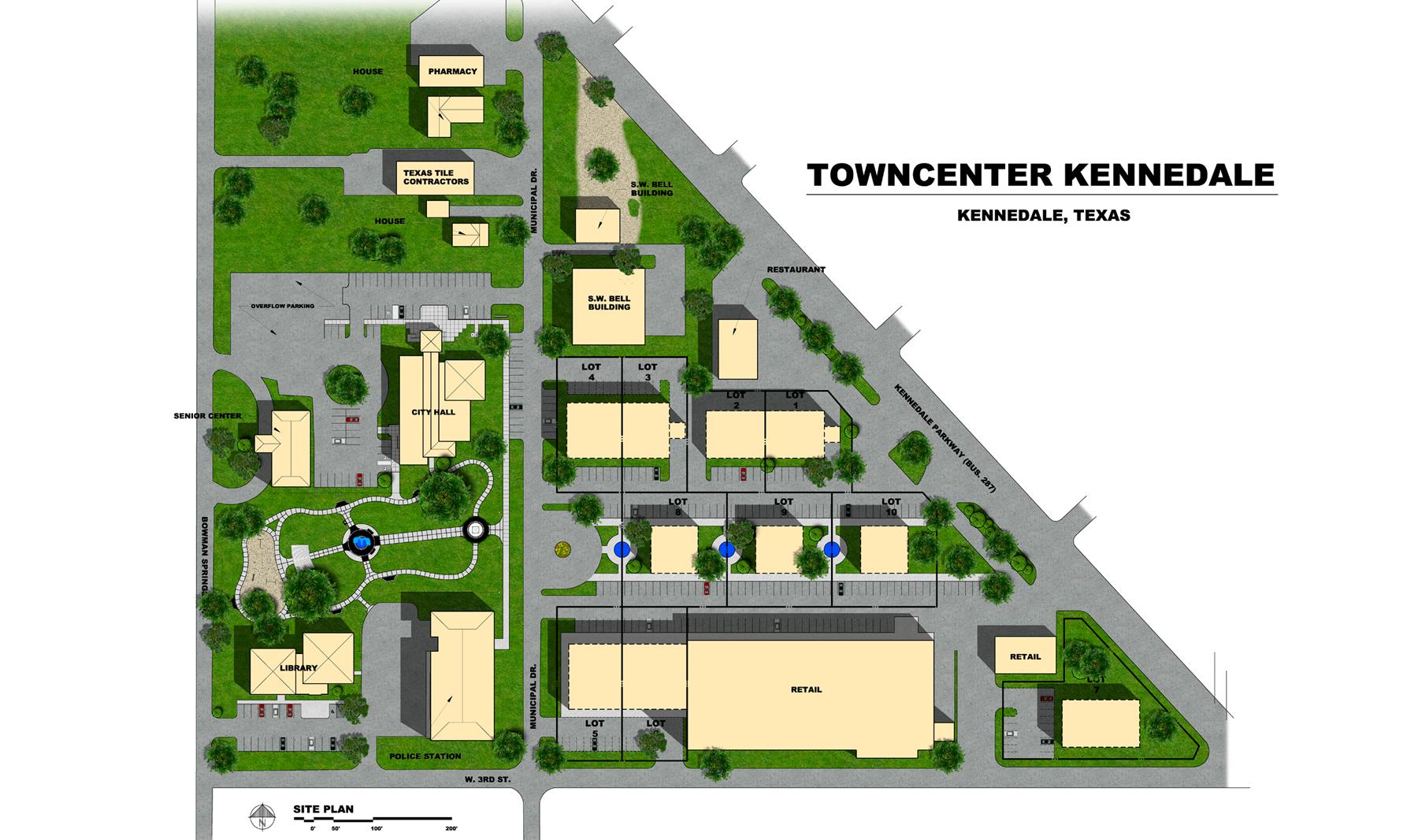 Towncener-Kennedale-Site-Plan-Rendering